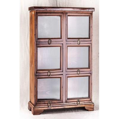 Mobiletto con cassetti a vetrina